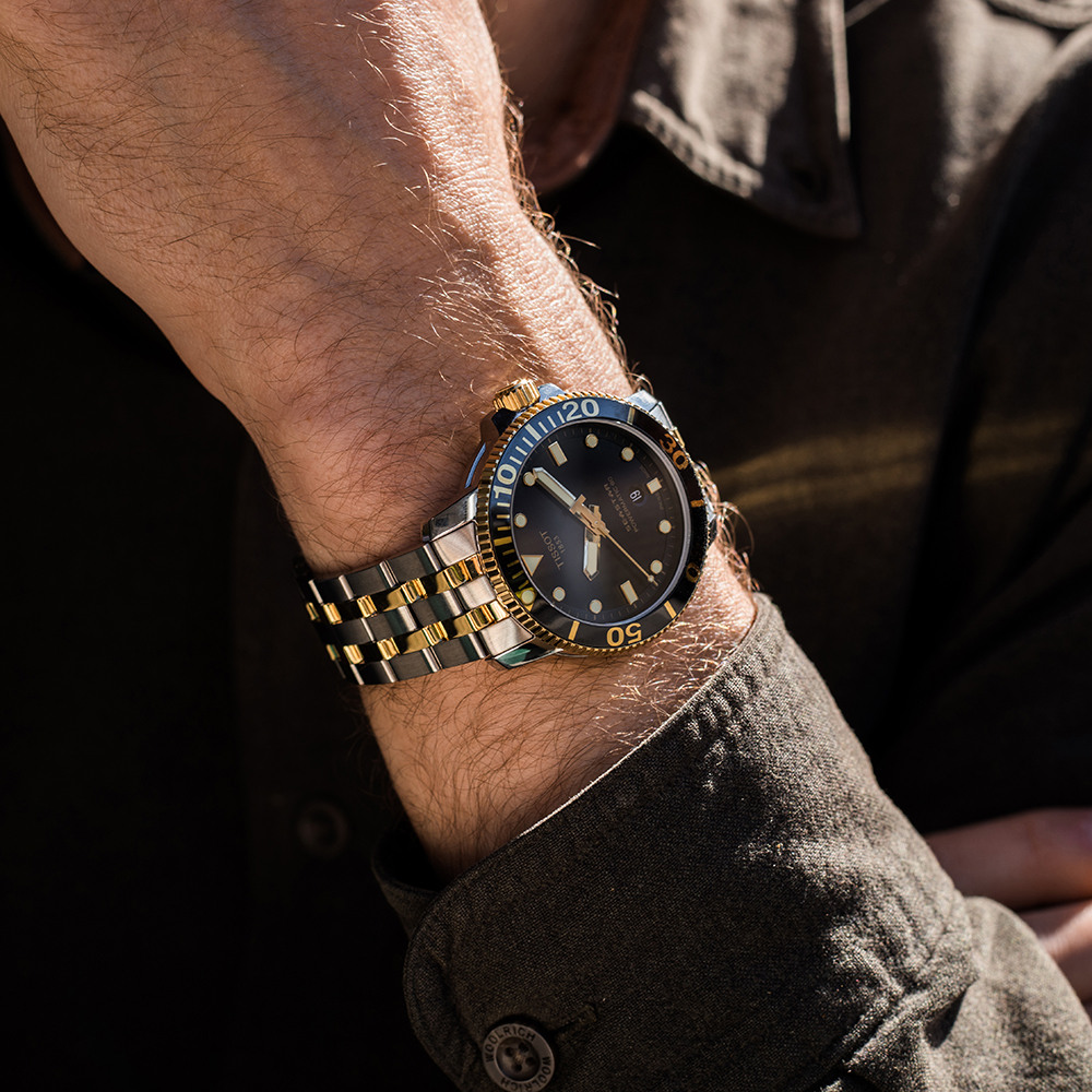 Tissot Seastar T1204072205100 Two-Tone Stainless Steel Mens Watch