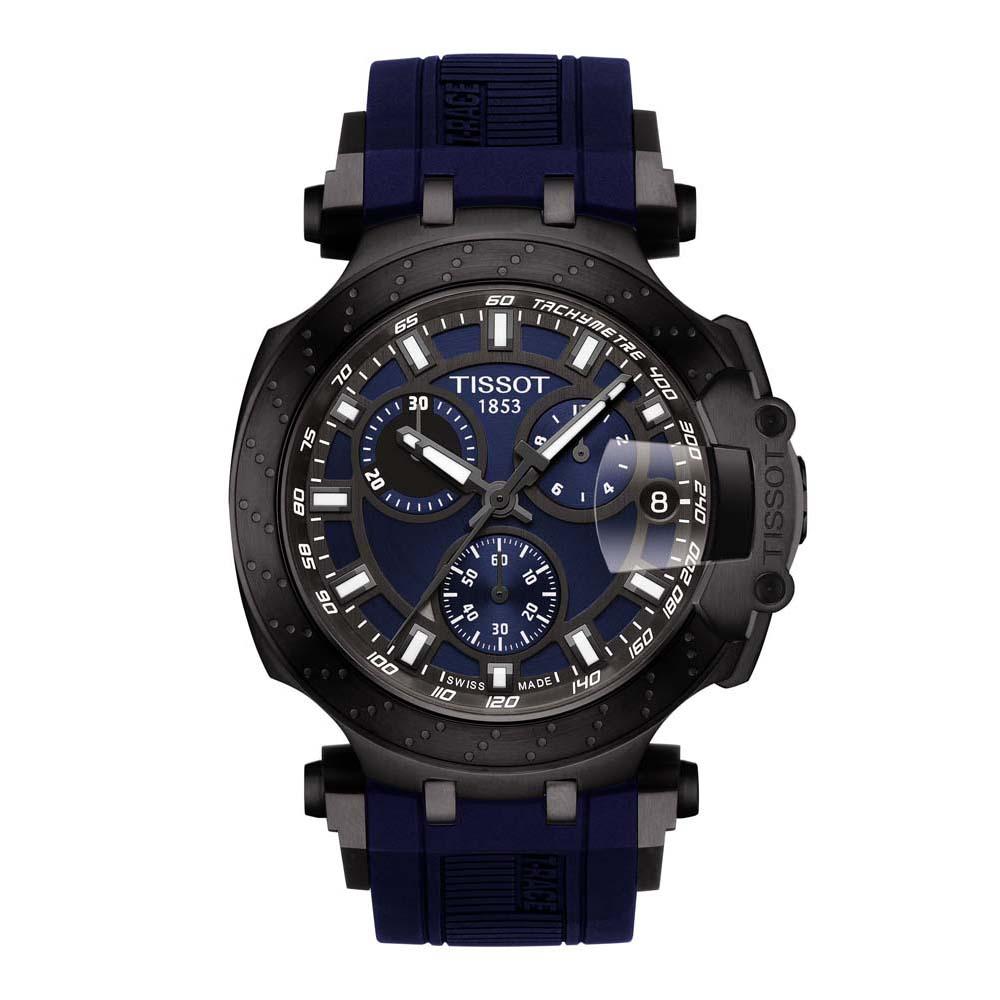 Tissot T-Race T1154173704100 Blue Rubber Mens Watch