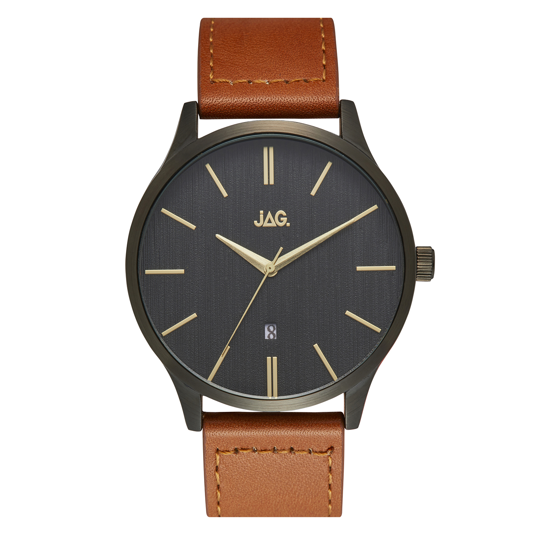 JAG Leroy J2278 Tan Leather Mens Watch