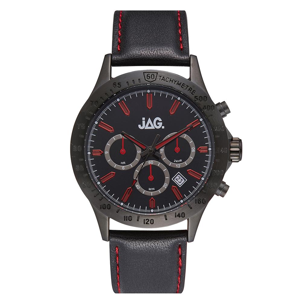 Jag Blake J2273 Black Leather Mens Watch