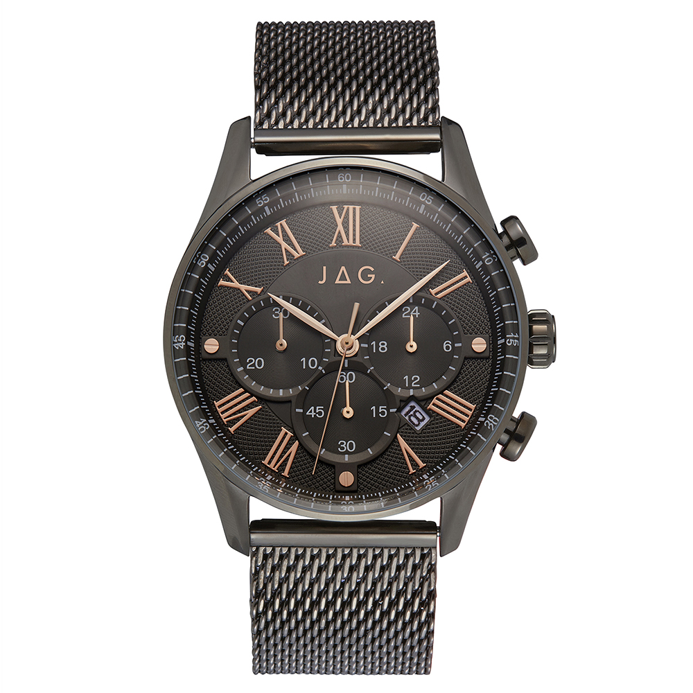 Jag Lachlan J2276A Black Stainless Steel Mens Watch