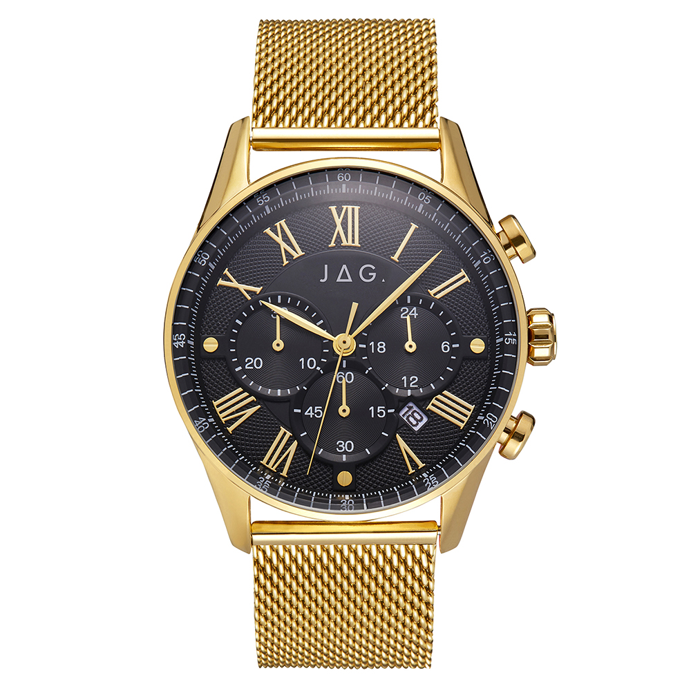 Jag Lachlan J2277A Gold Stainless Steel Mens Watch
