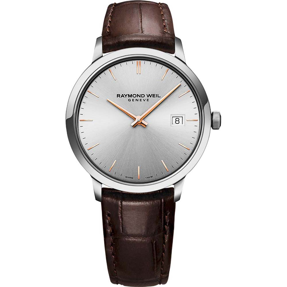 Raymond Weil Toccata 5485-SL5-65001 Brown Leather Mens Watch