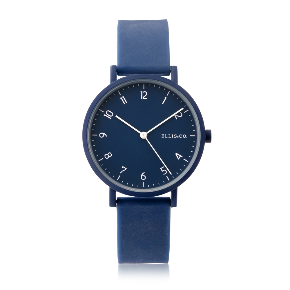 Ellis & Co Logan Blue Silicone Watch