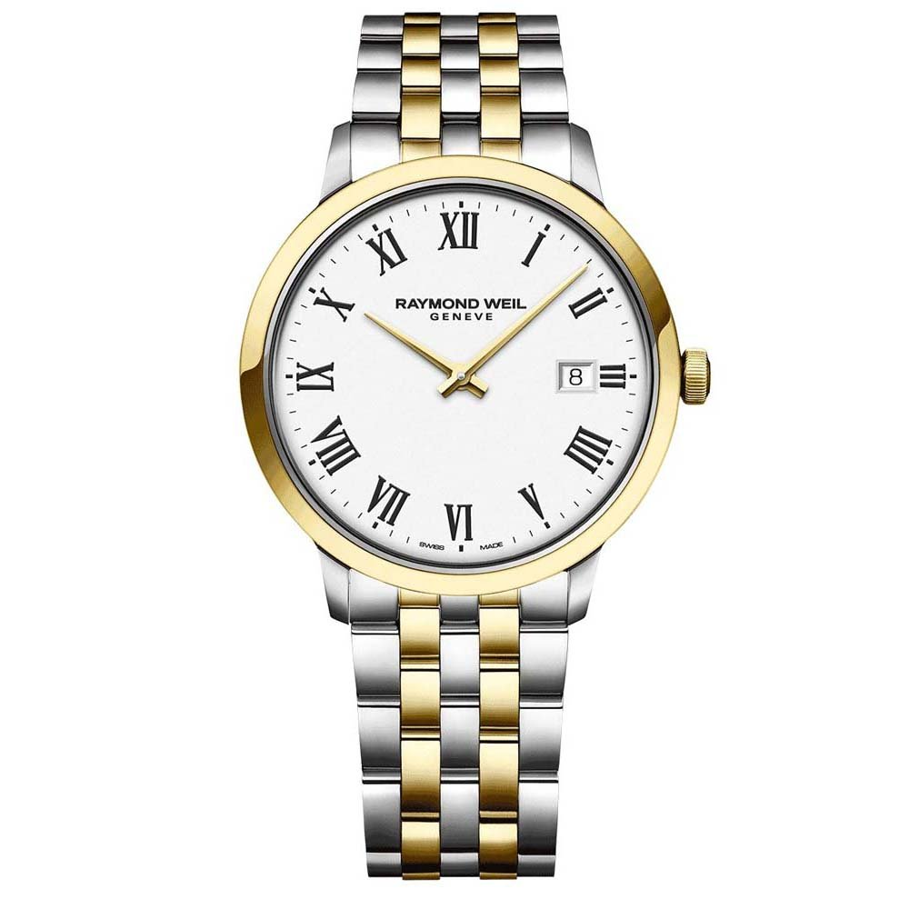 Toccata Mens 2T White Dial Stainless Steel Watch
