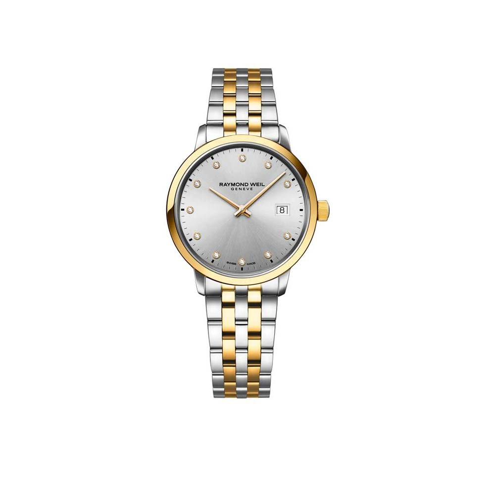 Toccata 2T Mother of Pearl Diamonds Grey Dial Womens Watch