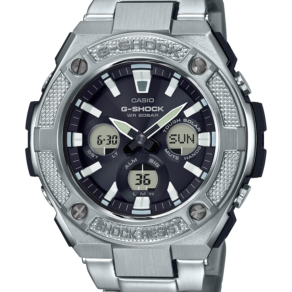 G-Shock GSTS330D-1A World Time Stainless Steel Mens Watch