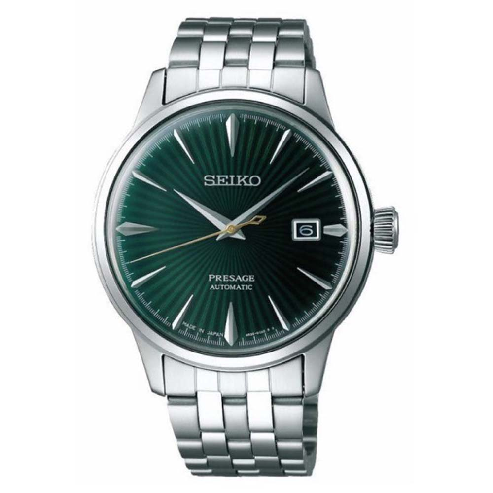 Seiko Presage SRPE15J Automatic Cocktail Time Stainless Steel Mens Watch