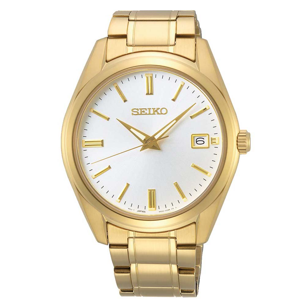 Seiko SUR314P Gold Plated Stainless Steel Mens Watch