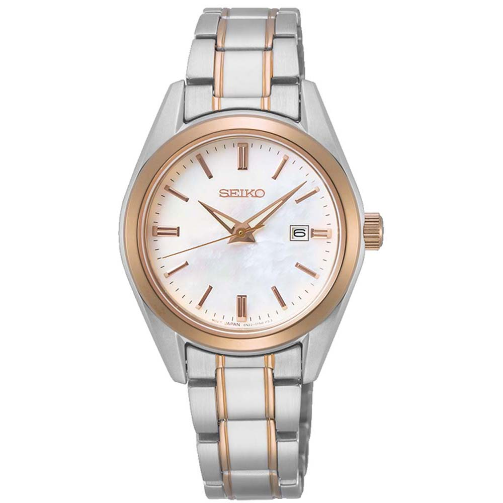 Seiko SUR634P Mother of Pearl Dial Stainless Steel Womens Watch