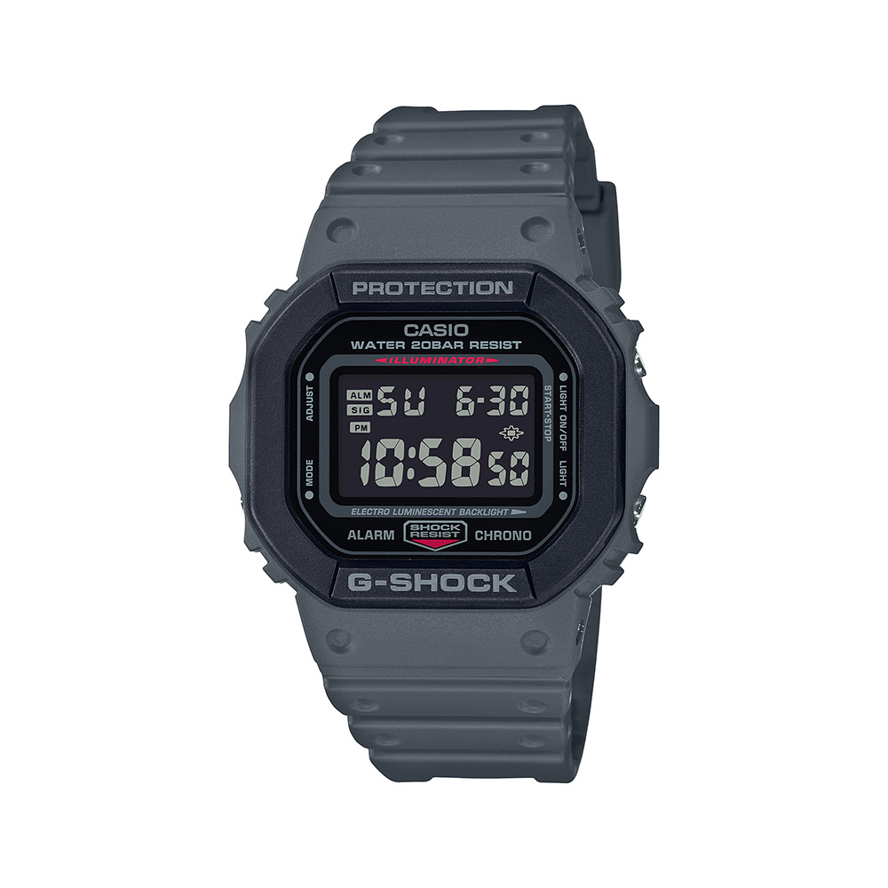 Casio G-Shock DW5610SU-8DR Grey Resin Mens Watch