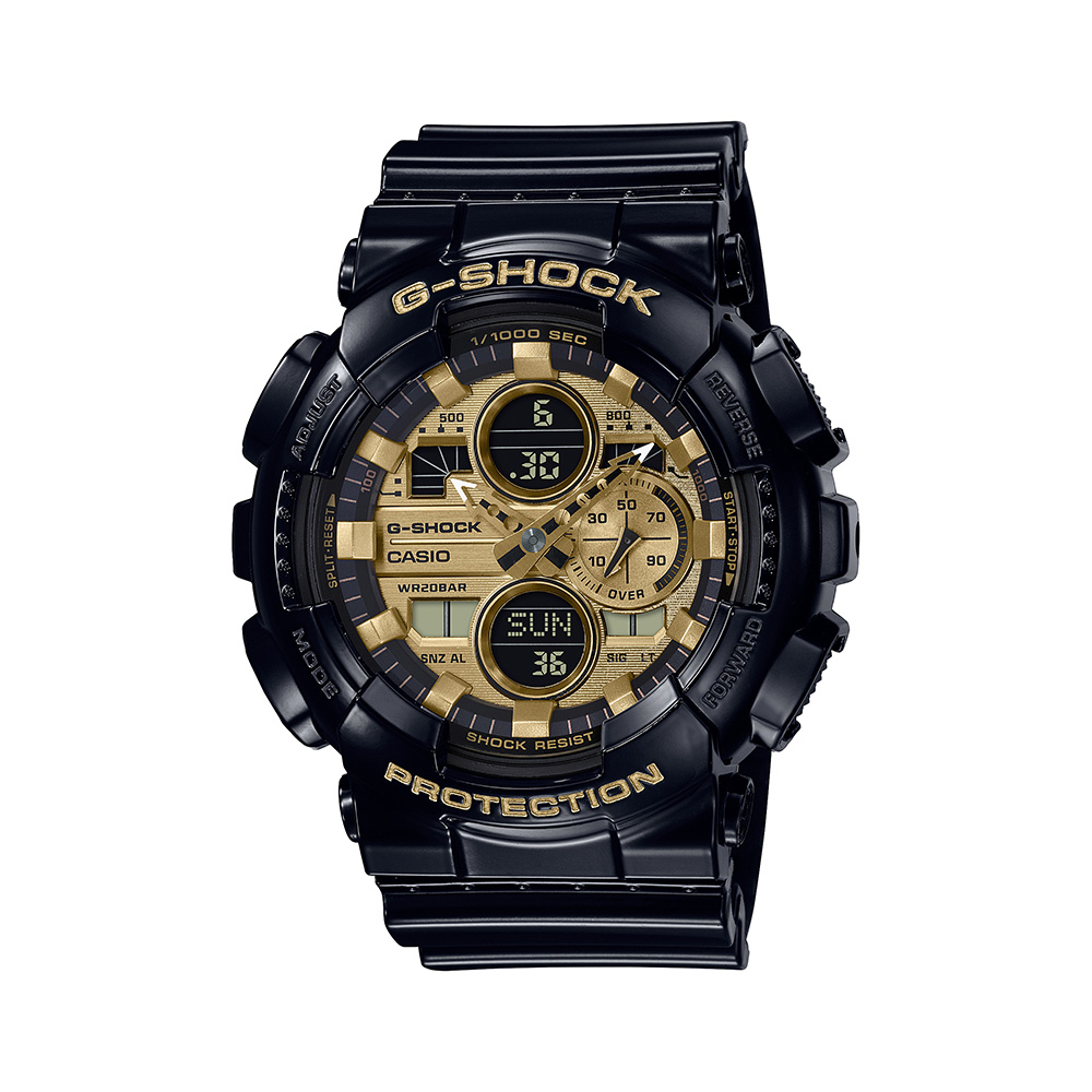 Casio G-Shock GA-140GB-1A1DR Black Resin Mens Watch