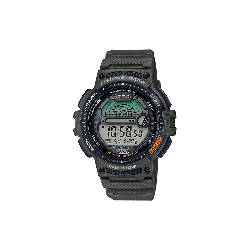 Casio WS1200H-3AV Fishing Time Moon Data Watch