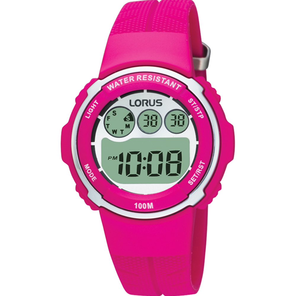 Lorus R2377DX-9 Digital Multi Timer Pink Watch