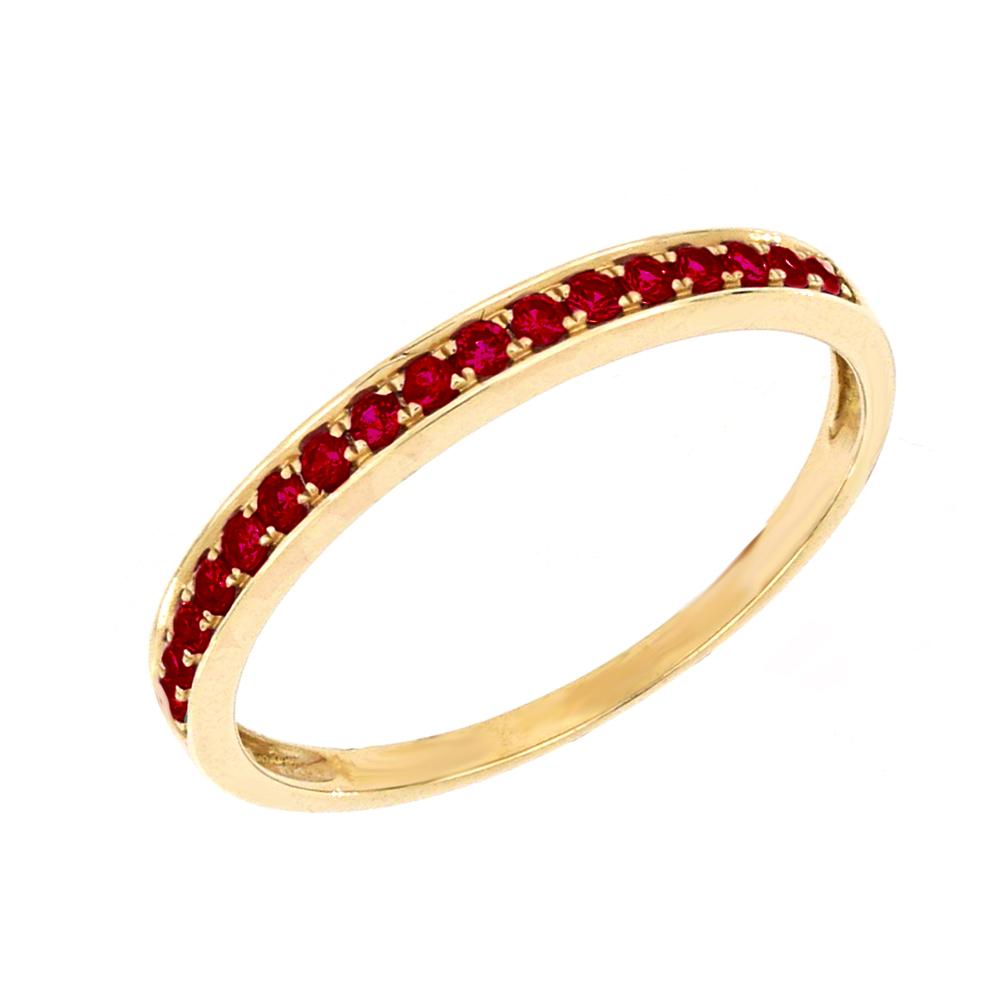 9ct Yellow Gold Natural Ruby Ring