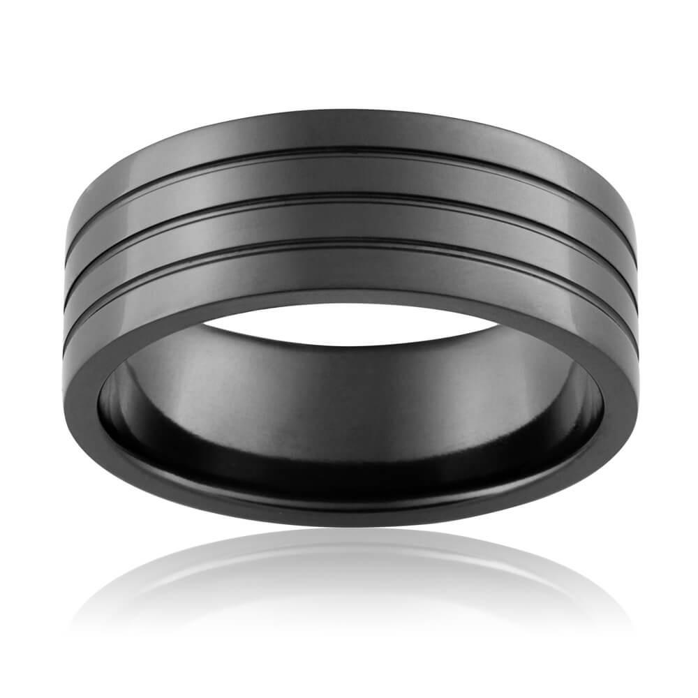 Zirconium 8mm Gents Ring Inlay