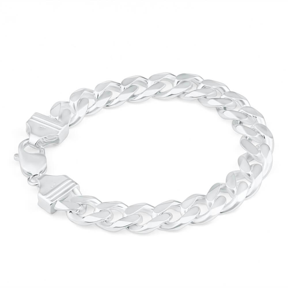 Sterling Silver 300 Gauge 21cm Curb Bracelet