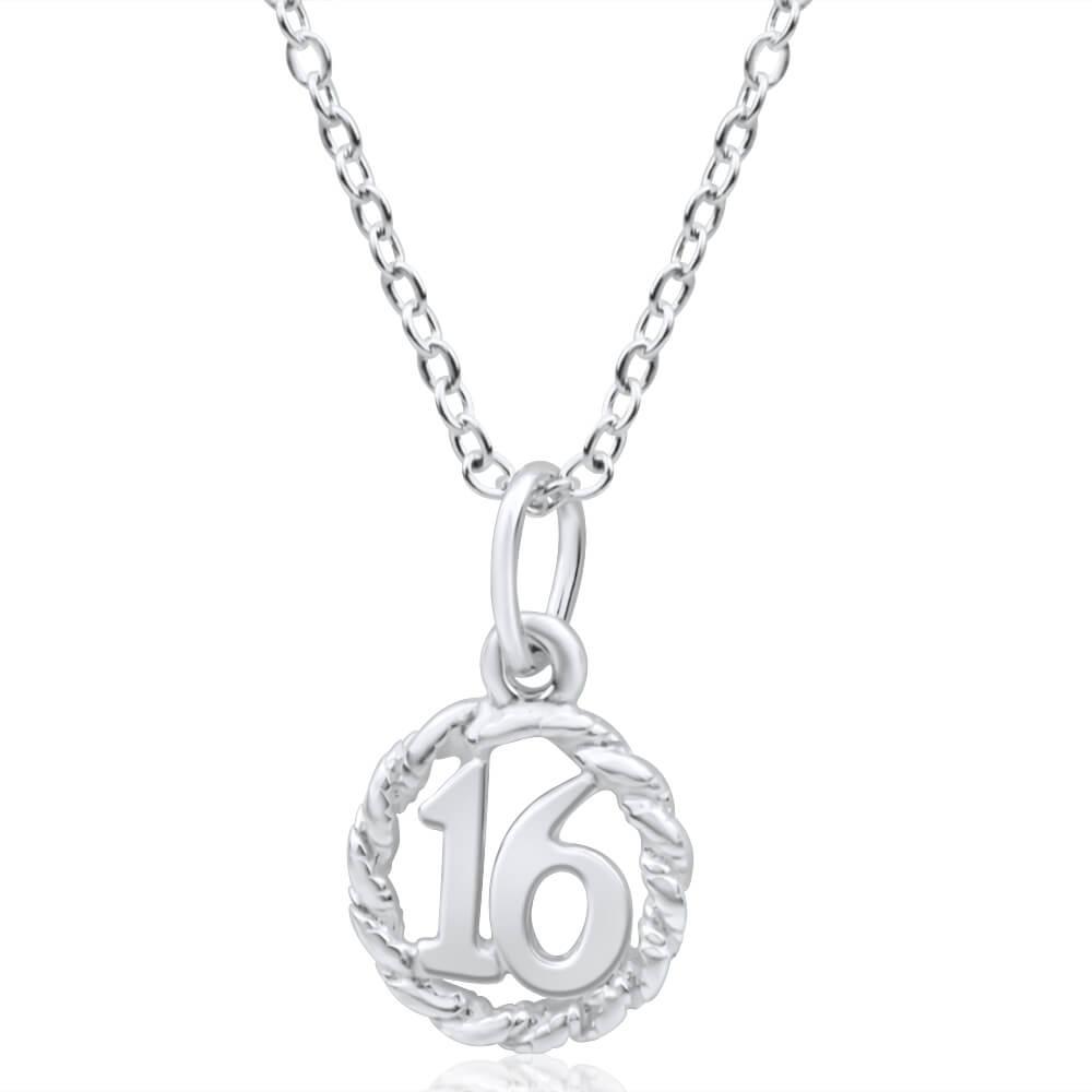 Sterling Silver Twist Circle 16 Pendant