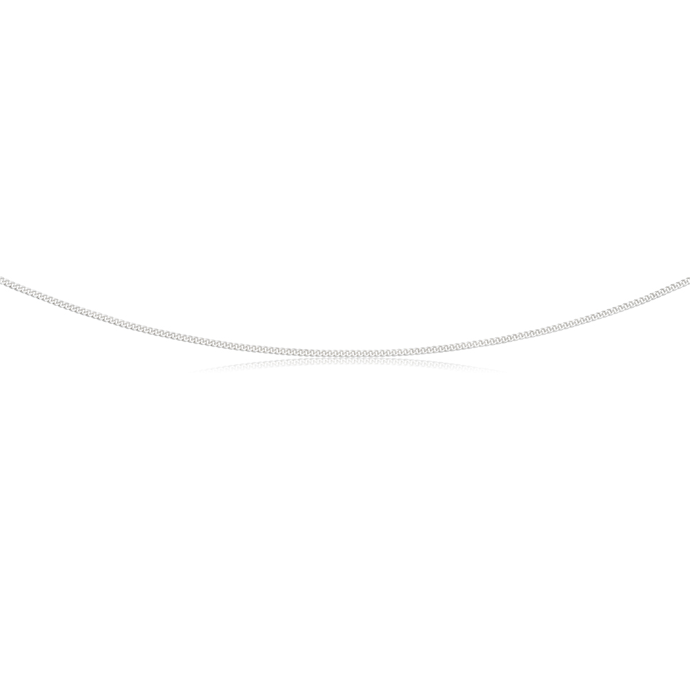 Sterling Silver 50 Gauge Curb Dicut Chain 55cm