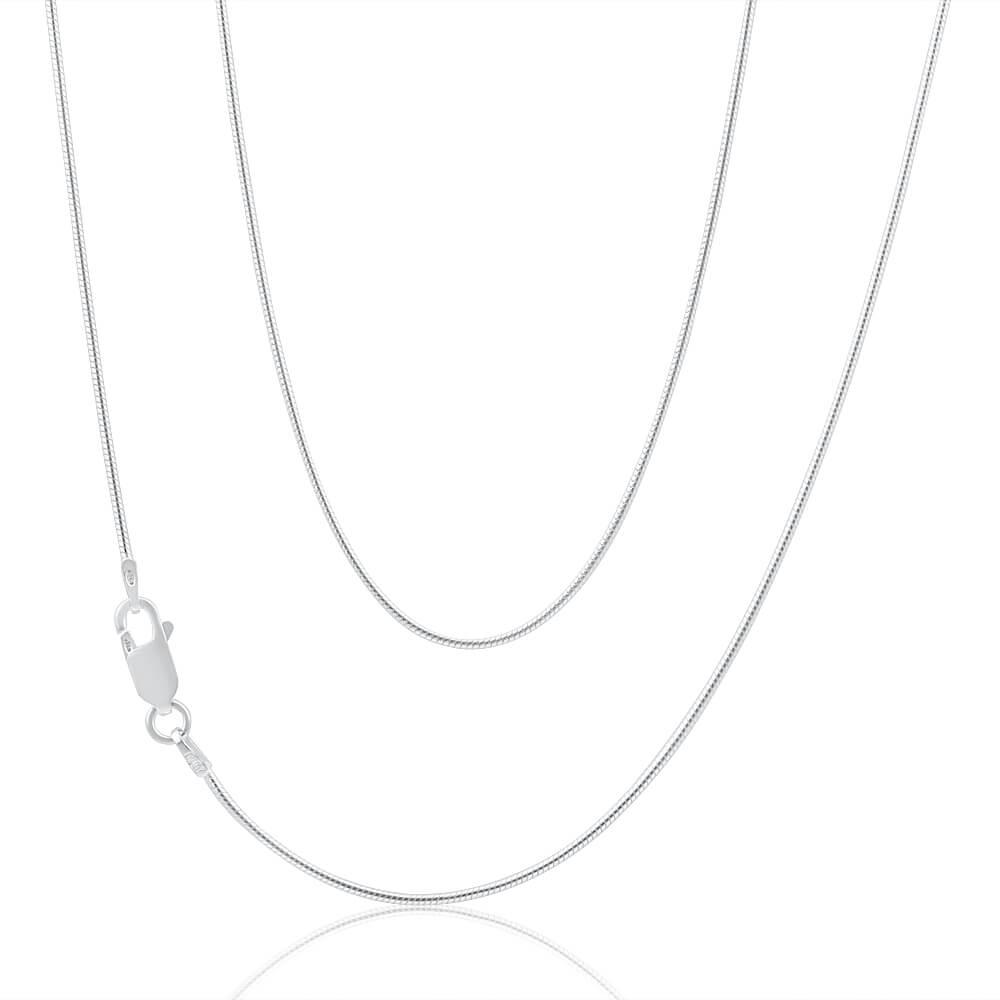 Sterling Silver Snake 45cm Chain