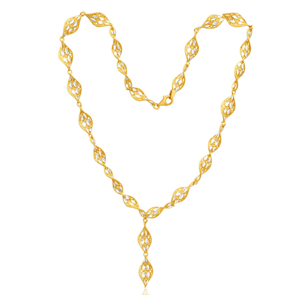 Gold Plated Sterling Silver FancyTwist 45m Chain