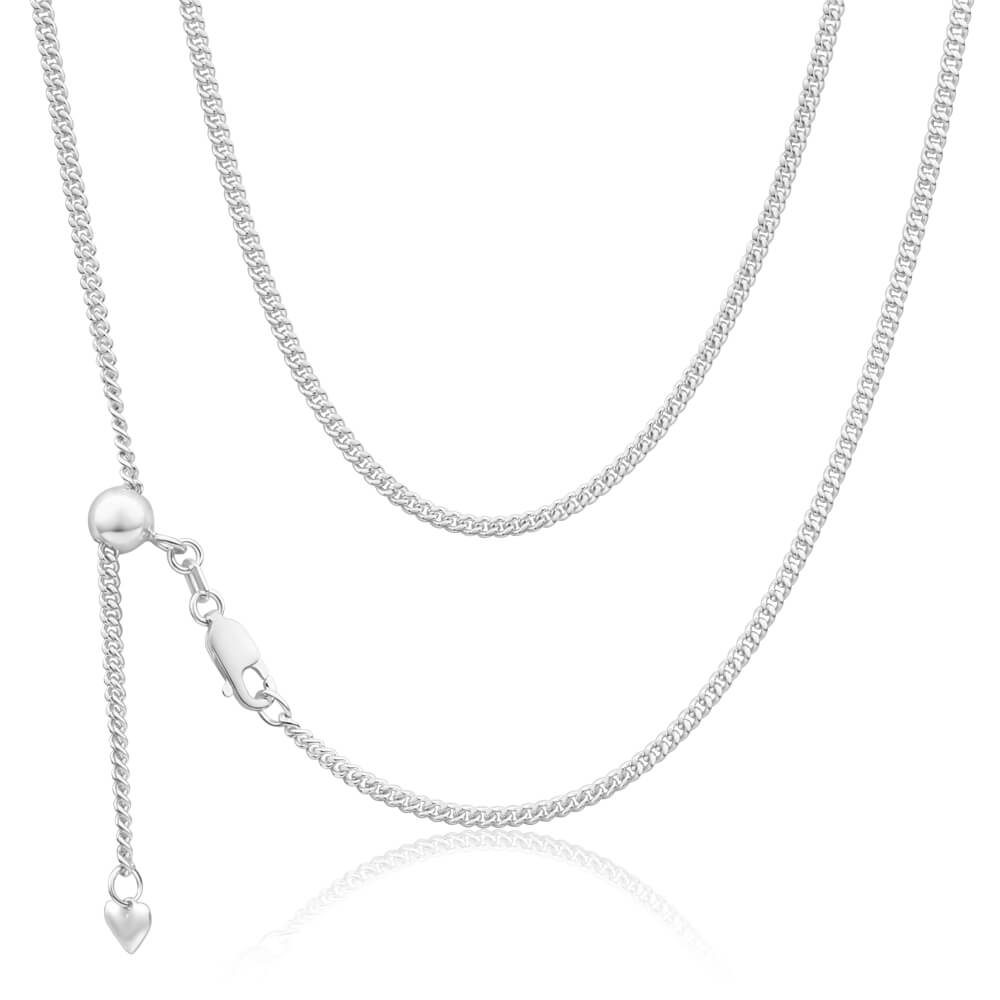 Sterling Silver Curb Extender 50cm Chain