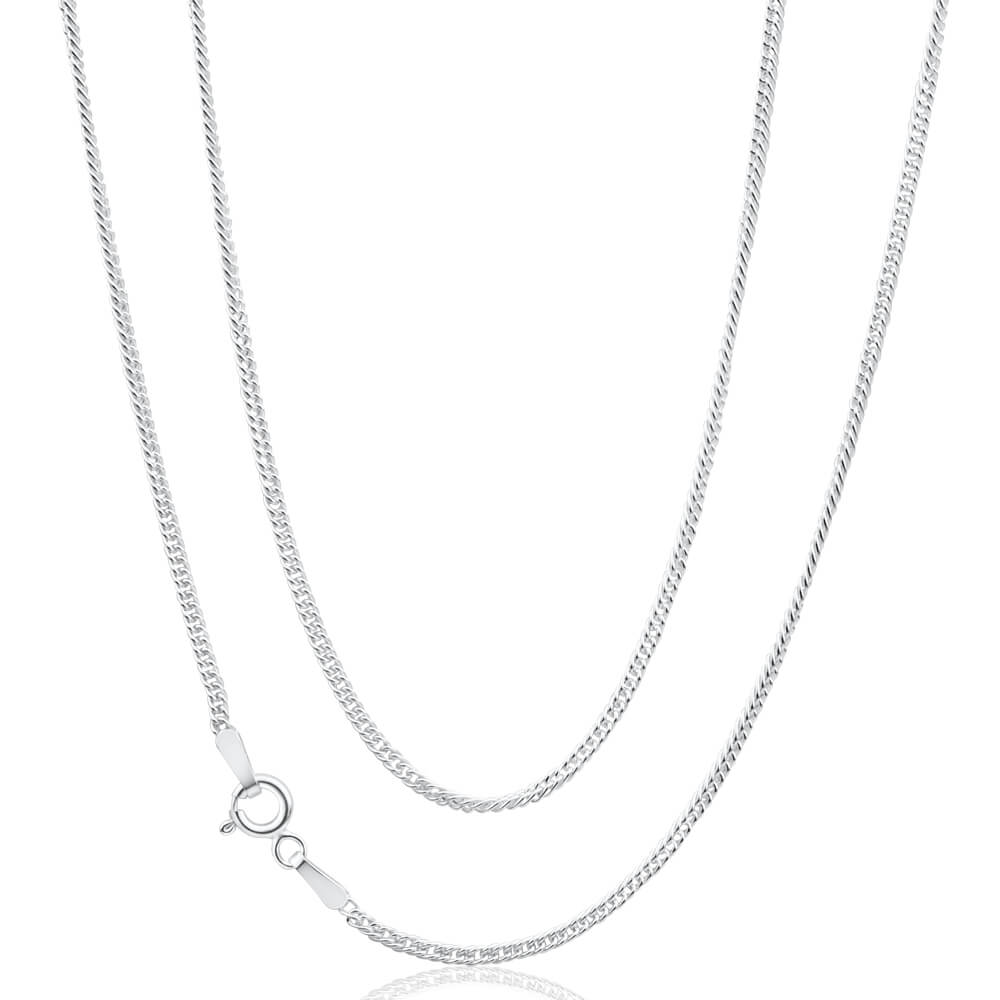 Sterling Silver 50cm Double Curb Chain