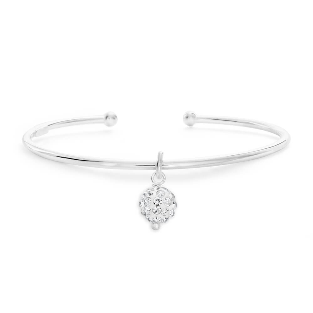 Sterling Silver Crystal all Baby 45mm Bangle