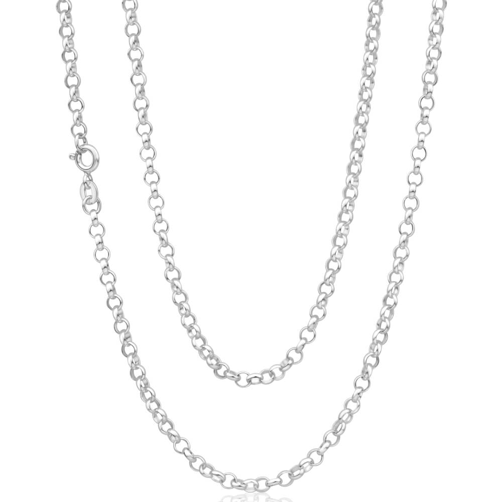 Sterling Silver 80cm Belcher Chain