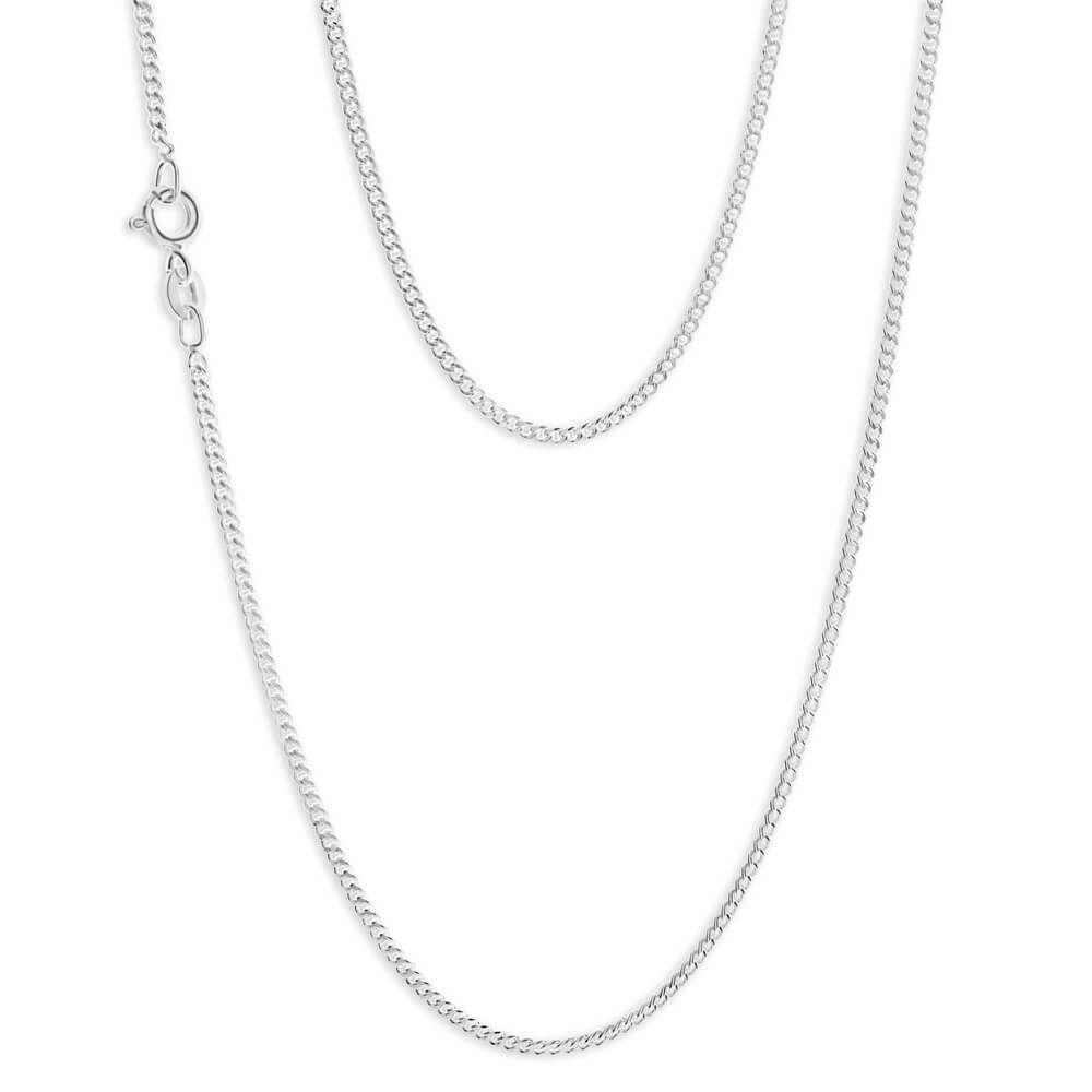 Sterling Silver Curb 60cm Chain