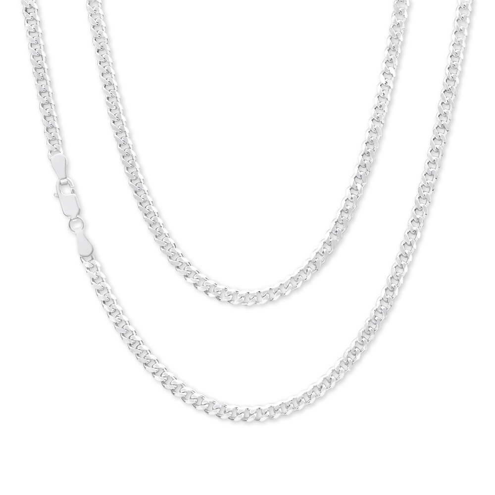 Sterling Silver 100 Gauge Diamond Cut 60cm Curb Chain