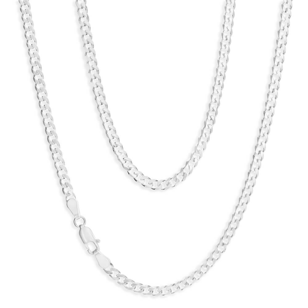 Sterling Silver 100 Gauge Diamond Cut 70cm Curb Chain