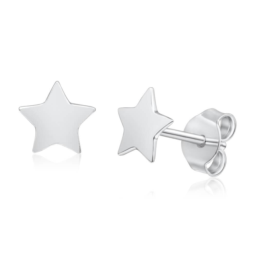 Sterling Silver Stud Star Earrings