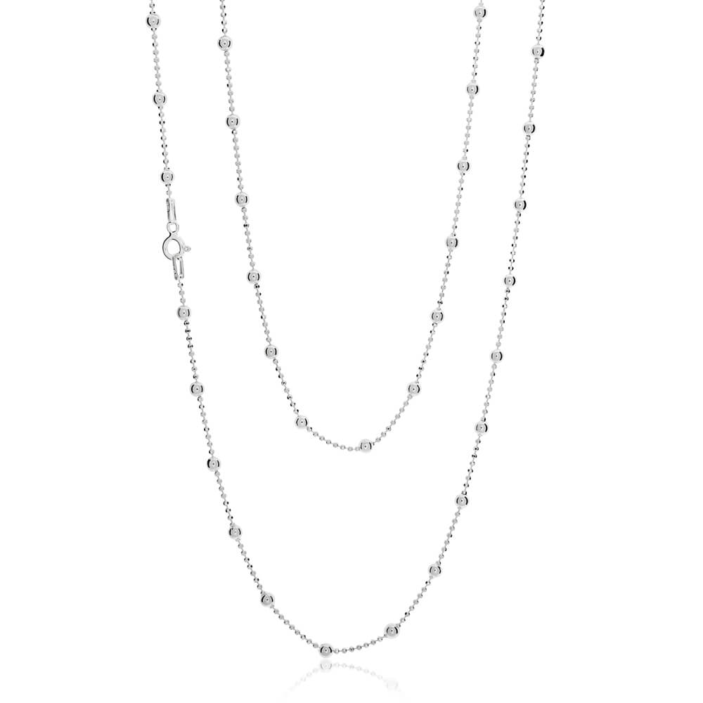 Sterling Silver 80cm Ball Chain 120 Gauge