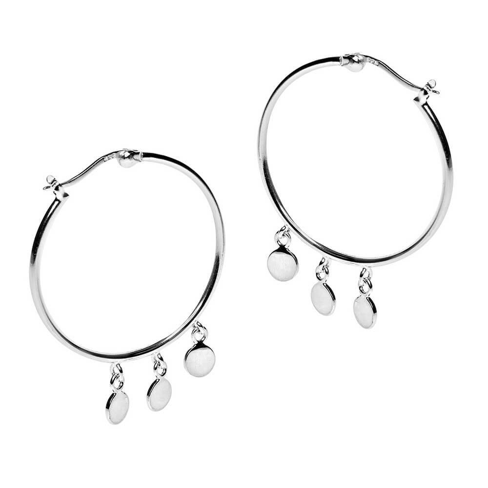 Pastiche Sterling Silver Hoop Earrings