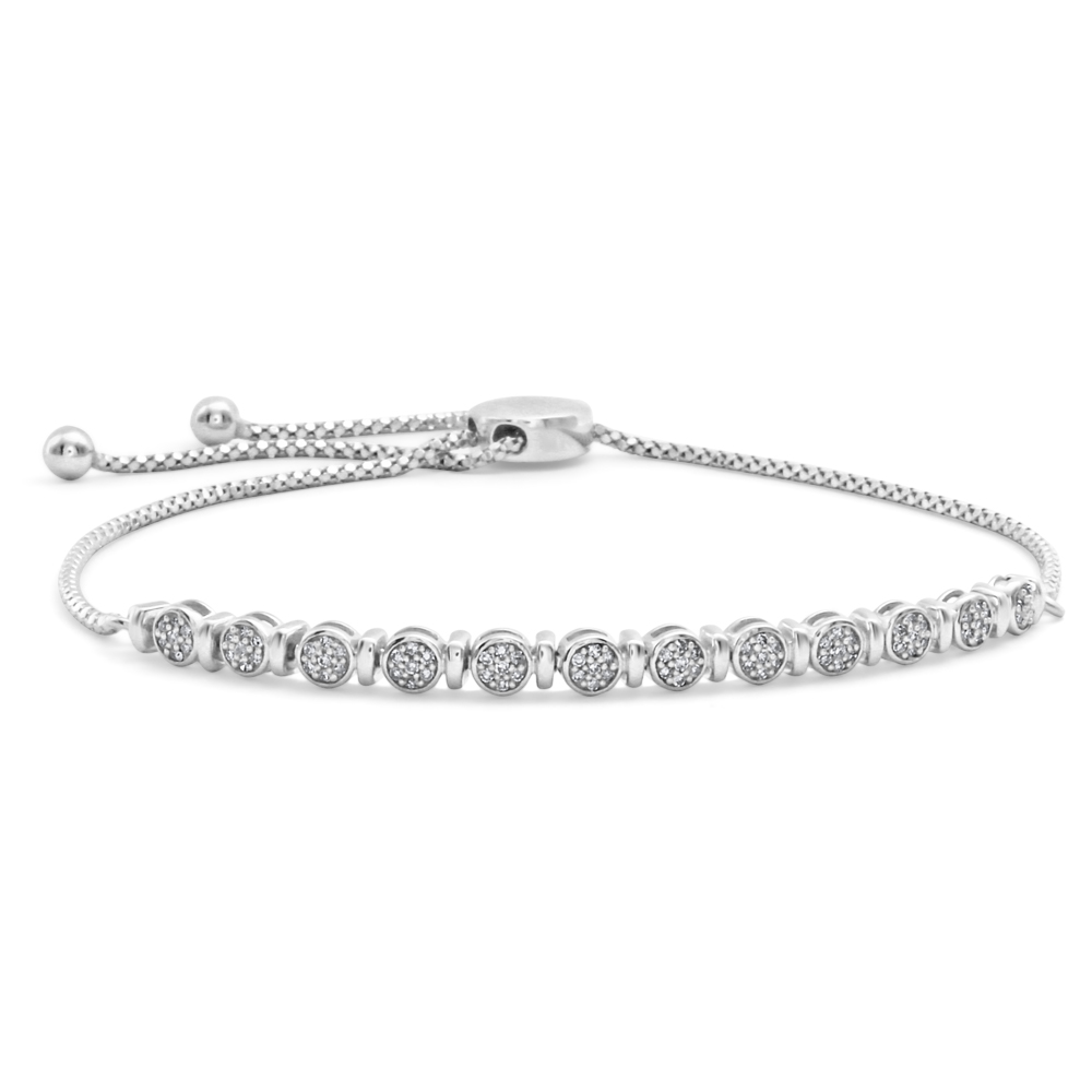 Sterling Silver Elegant Diamond Bracelet