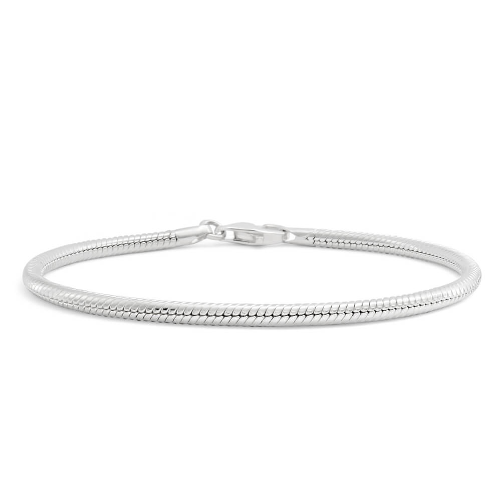 Amadora Sterling Silver Snake 20cm Bracelet