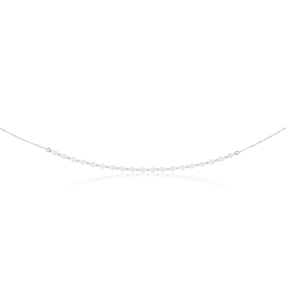 Sterling Silver Fancy Mini Discs Necklace 45cm
