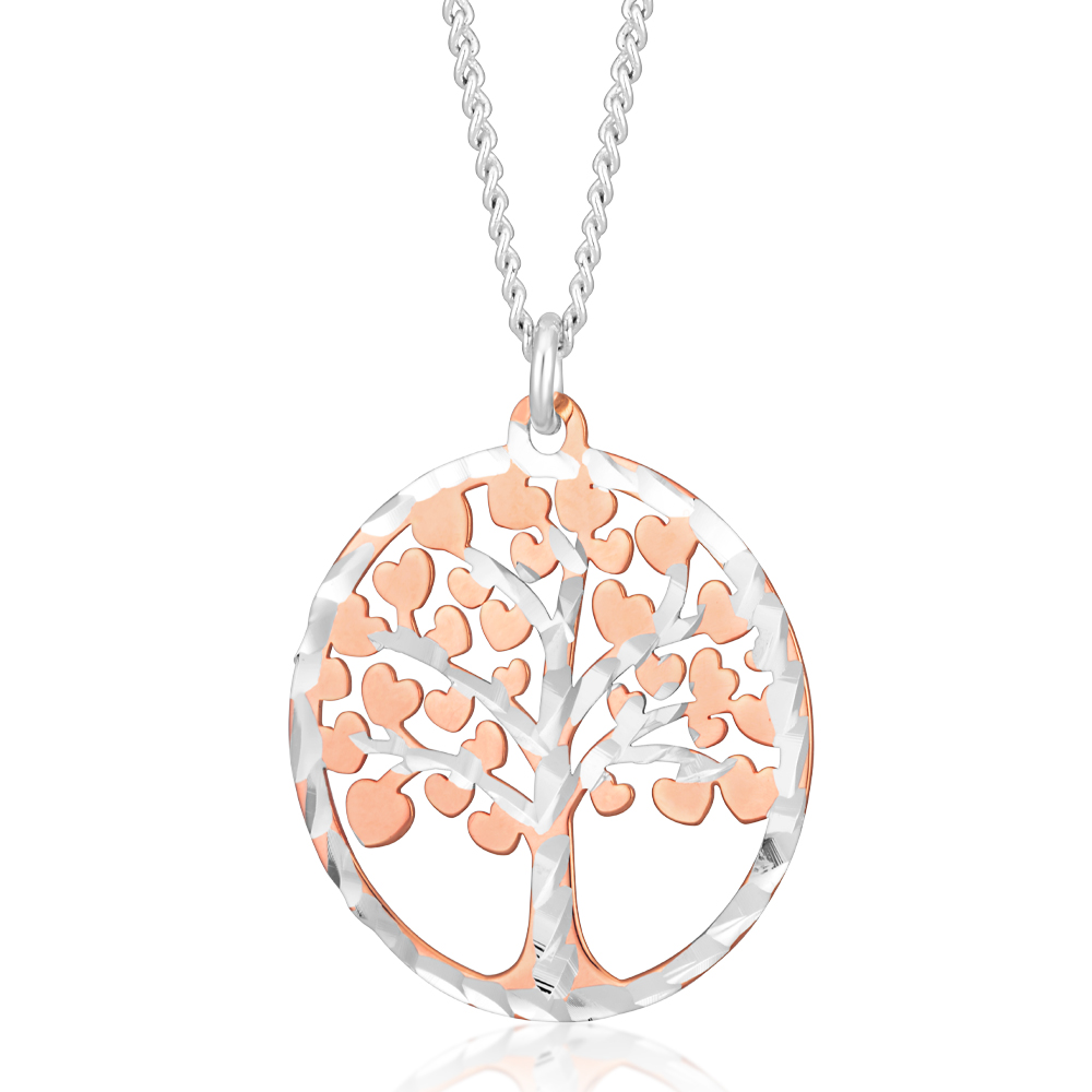 Sterling Silver Dicut Tree Of Life 20mm Pendant