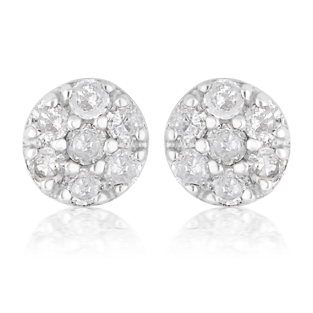 3/4 Carat Champagne. Black & White Diamond Earring Set with Removable Halo