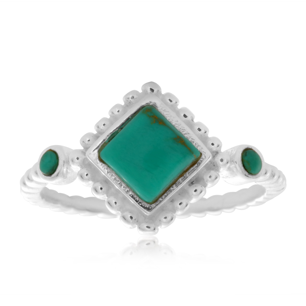 Sterling Silver Turquoise Fancy Ring