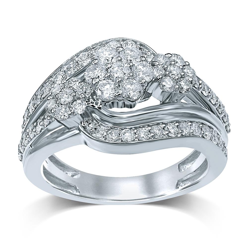 Sterling Silver 1 Carat Diamond Ring