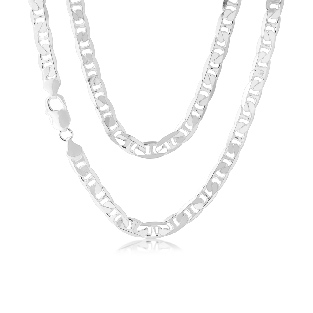 55cm Sterling Silver Anchor Chain