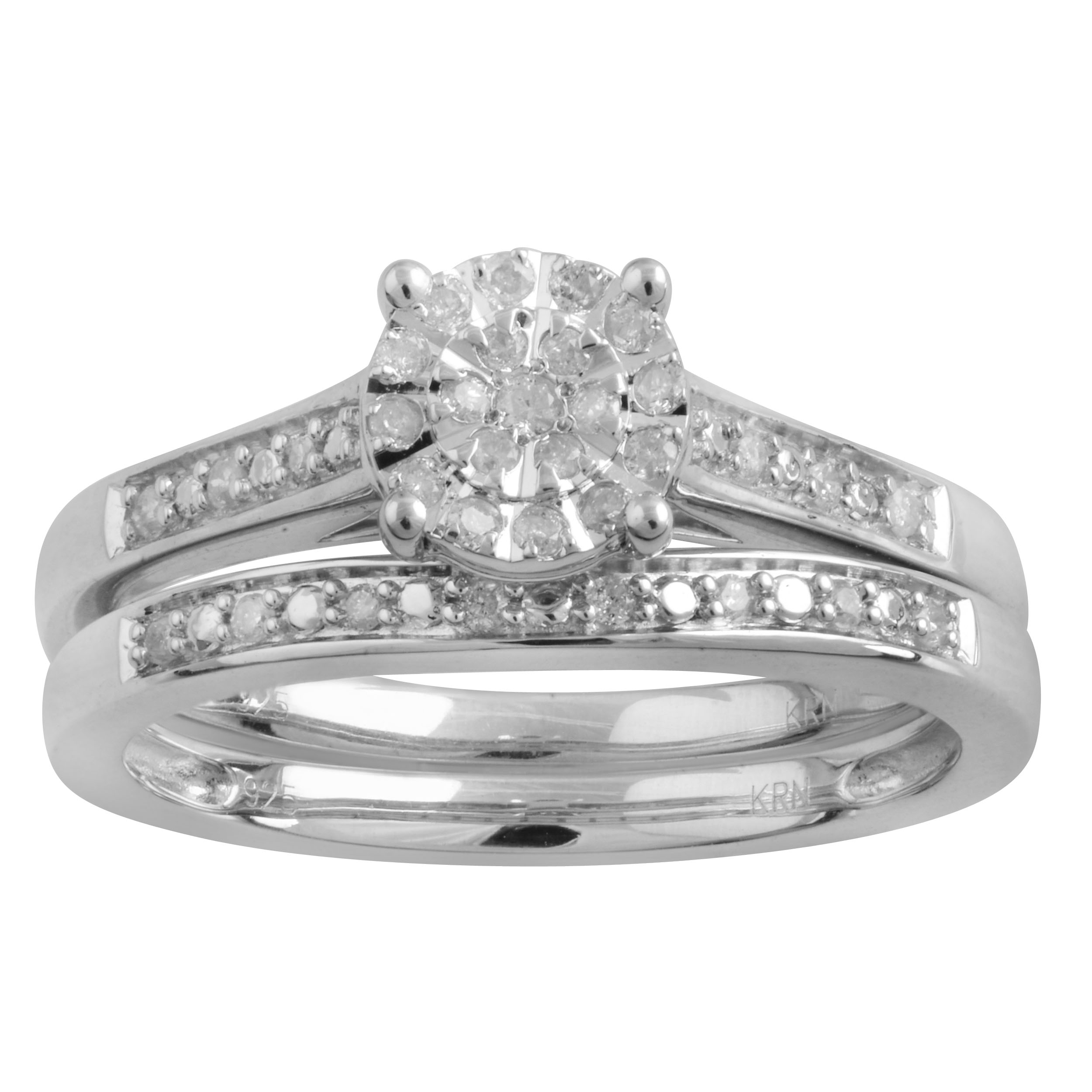 Sterling Silver 1/5 Carat Diamond Ring