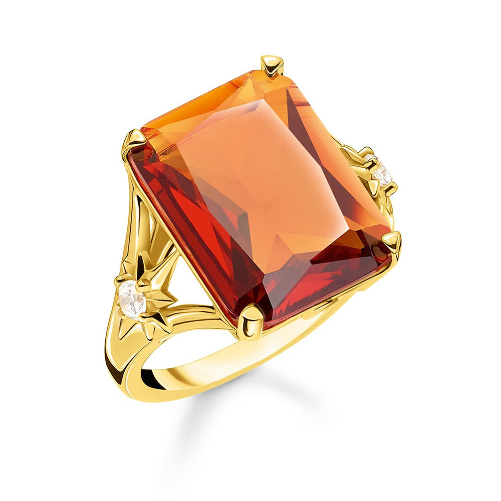 Sterling Silver and Gold Plated Thomas Sabo Cognac Ring