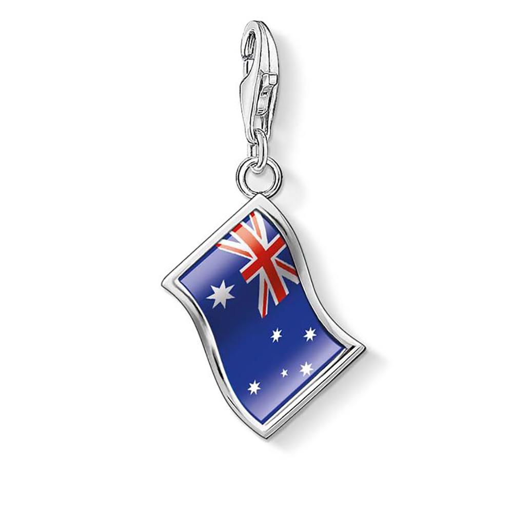 Sterling Silver Thomas Sabo Charm Club Australian Flag