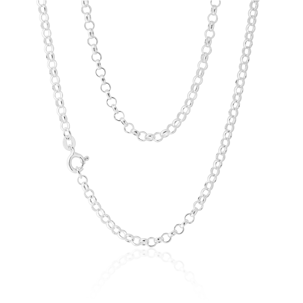Sterling Silver 45cm Belcher Chain