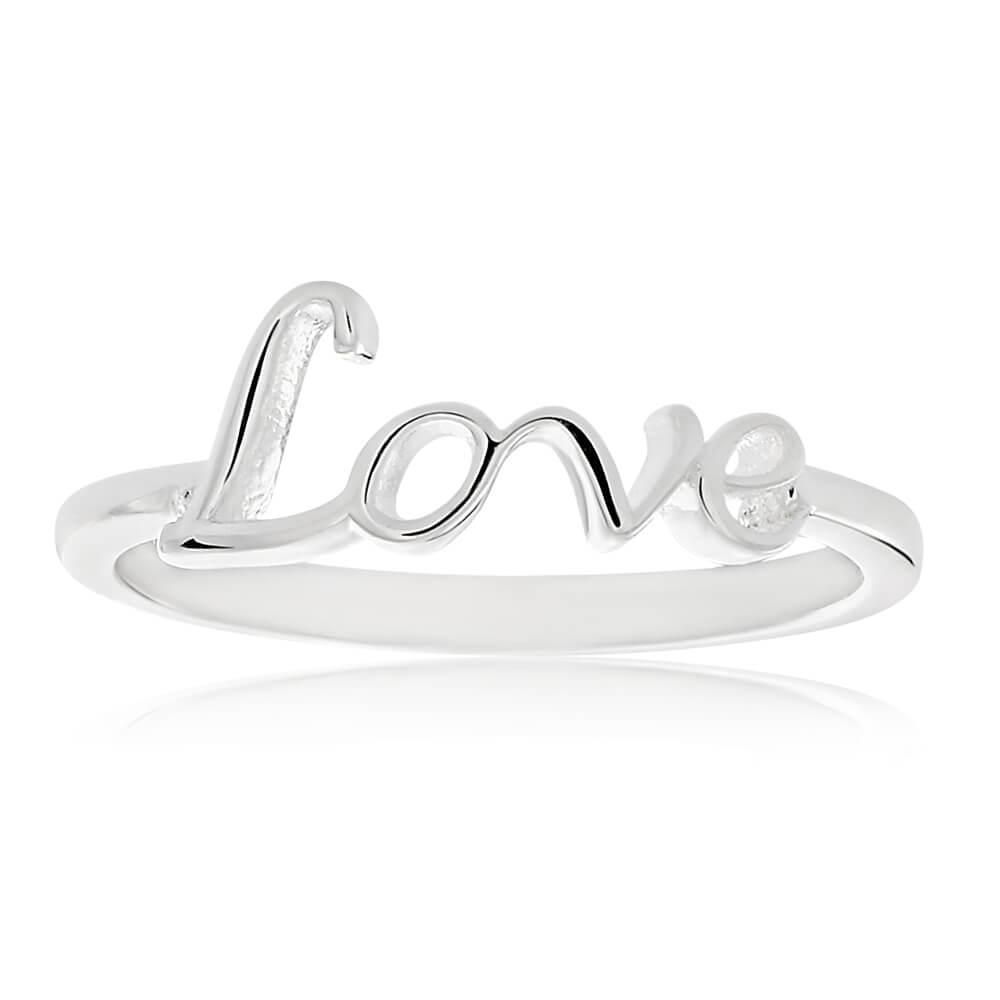 Sterling Silver Plain Love Ring