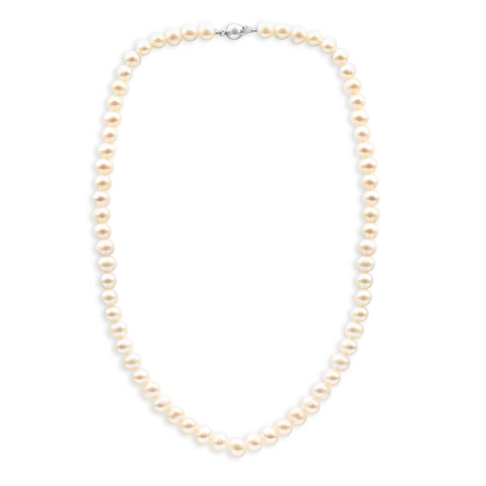 Cream Freshwater Pearl Strand 45cm Necklace