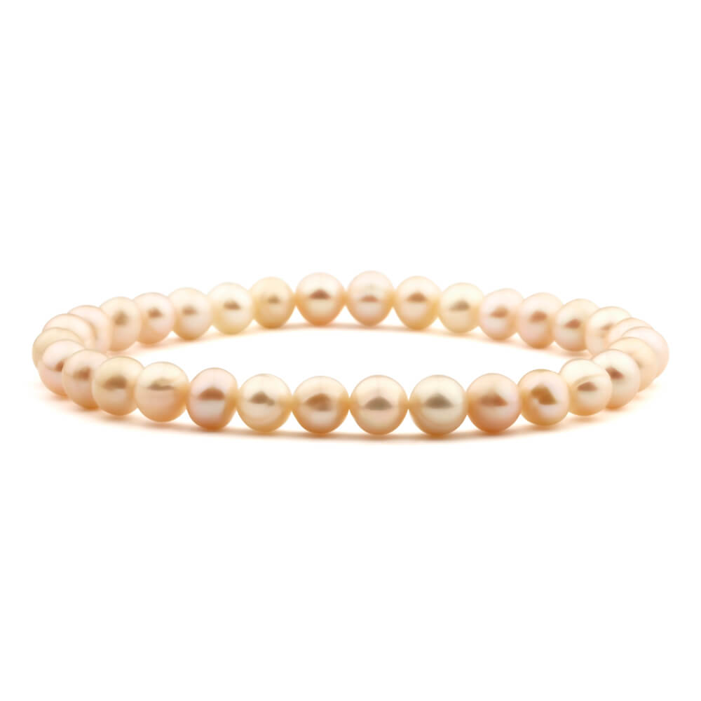 Pink Freshwater Pearl Stretch 18cm Stretch Bracelet
